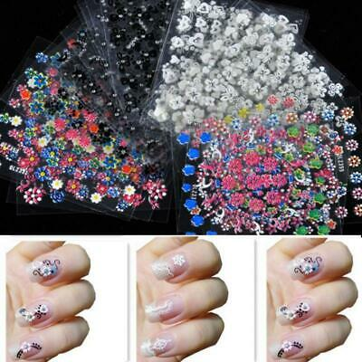 3D Decal Stickers 30 Sheets Colorful Nail Art Manicure Tips DIY WT88 03