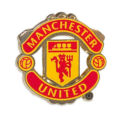 Manchester United FC Official Football Gift Crest Enamel Pin Badge