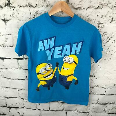 10 Minion Short Sleeve Graphic Shirt New NWOT 8 L Despicable ME Boys Gray M