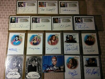 Star Trek Voyager Autograph Cards Lot of 17 Seven of Nine Jeri Ryan Kurtwood