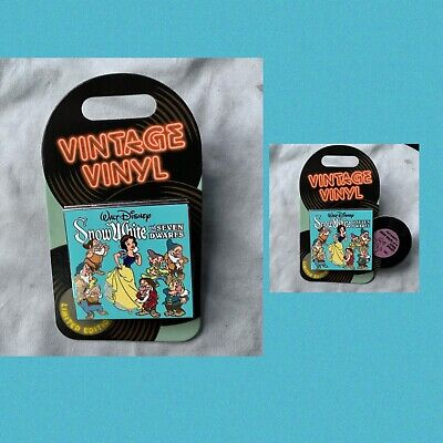 Disney Pin Of The Month Vintage Vinyl Snow White Pin LE 3000