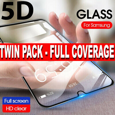 Screen Protector for Samsung Galaxy A40,A50,5D FULL COVERAGE TEMPERED GLASS -2PK