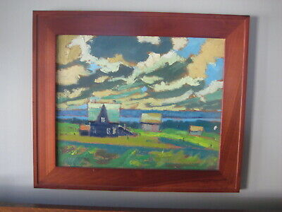 Canadian George Forgie - Group of 7 Style  Landscape Oil Painting 1957