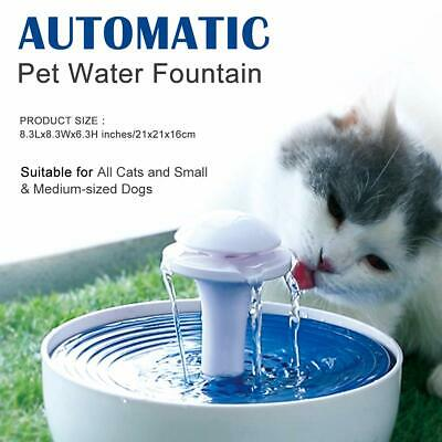 Automatic Dog Cat Water Fountain Pet Drink Filtered Dispenser , BPA-Free Plastic