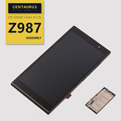 US For ZTE Grand X MAX+ Z987 4G New LCD Display Touch Screen Digitizer Frame Fix