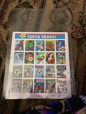 41 Cent DC Comics Super Heroes Mint Stamp Sheet Catalog Chapter 2 20 Stamps