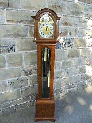 Antique Walnut Musical Granddaughter Clock