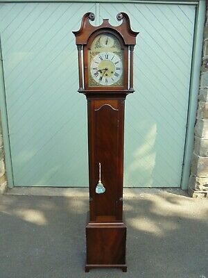 Quality Mahogany Granddaughter Clock Gustav Becker