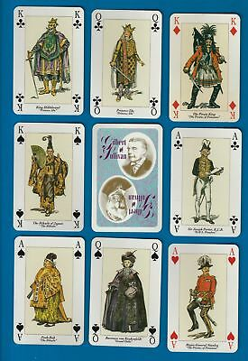 Playing cards Gilbert & Sullivan, nice art by Don Jack  #071
