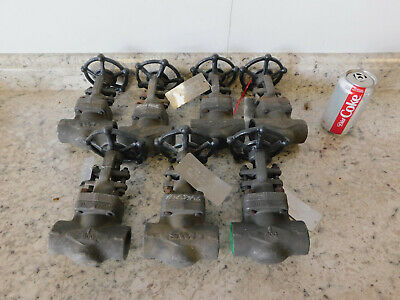 "7 NEW SWI Gate Valve 1"" Socket Weld Class 800# A105N Forged Steel Body NEW"