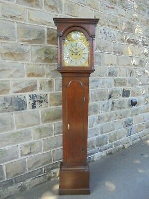 Antique Oak Longcase Clock Richard Smith Newport
