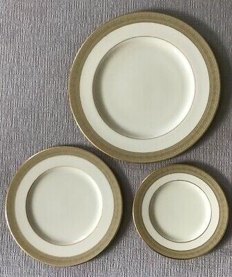 Lenox Greenfield Dinner Plate, Salad Plate, Bread Butter Plate Set Of 3 Pc
