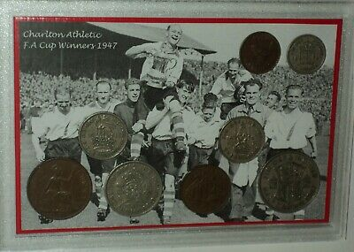 Charlton Athletic (The Addicks) Vintage F.A Cup Final Winners Coin Gift Set 1947