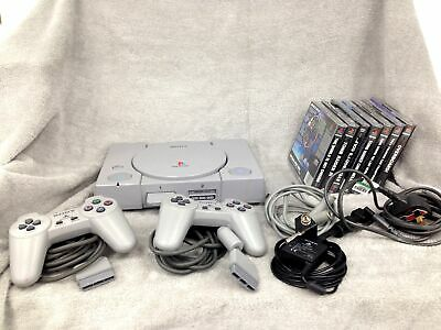 Sony Playstation 1 PS1Original Grey Console Controllers Games & magazines Bundle