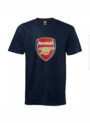 Arsenal FC Official Football Gift Mens Crest T-Shirt Size S.preowned