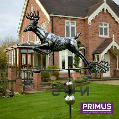 Primus 3D Deer Stainless Steel Weathervane with Garden Stake Weather Vane