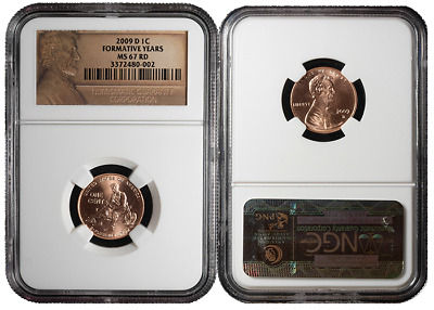 2009-D 1c Formative Lincoln Cent NGC MS67 Red Lincoln Label