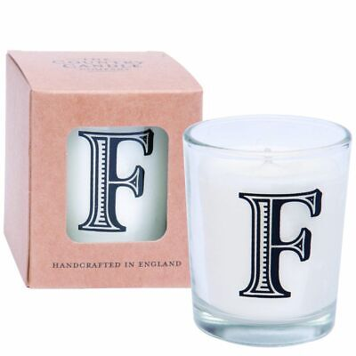 New The Country Candle Co. F Alphabet Candle in Votive Glass By OZSALE