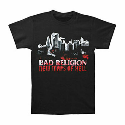 Bad Religion Boys' New Maps Of Hell Cover T-shirt Youth Large Black