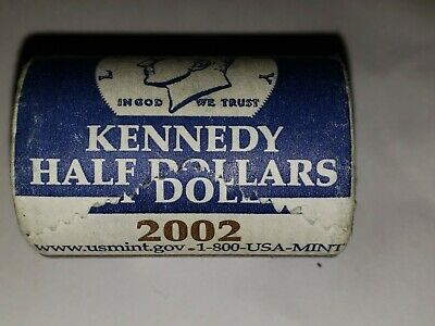 2002-D Uncirculated Kennedy Half Dollar Roll US Mint Wrapped