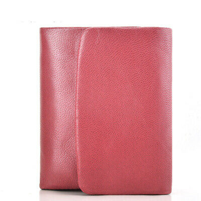 Women's Wallet Genuine Leather Sheepskin Card Holder Short Coin Pocket 3 Bifold