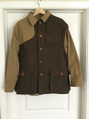 250f2dc5 Vintage Polo Ralph Lauren Shooting Hunting Jacket Plaid Sportsman USA Made  Field