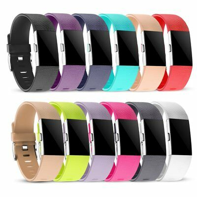 12 Pack Wristband For Fitbit Charge 2 Replacement Silicone Accessories Band Yoga