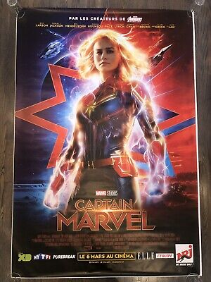 CAPTAIN MARVEL Original DS 4x6' French Bus Shelter Movie Poster