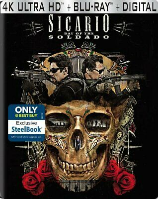 Sicario: Day of the Soldado (DVD, 2018, SteelBook Digital Copy 4K Ultra HD...