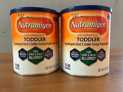 2 Cans Nutramigen Toddler 12.6 Oz Expires 2020 FREE SHIPPING