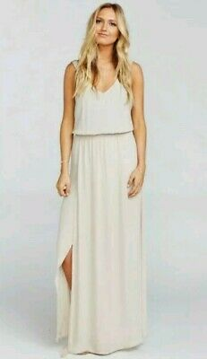 f201c61d6e8 Show Me Your Mumu Kendall Maxi Dress Bridesmaid in Show me the Ring Crisp  Size M