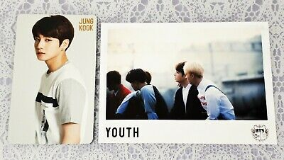 JUNGKOOK BTS Japan Official YOUTH Photocard Fanclub event Limited Photo ARMY
