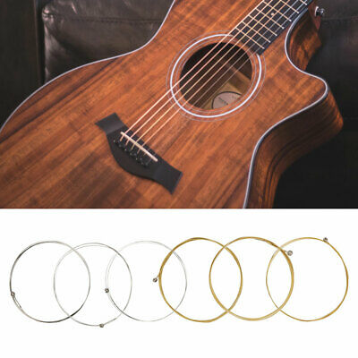 6Pcs Stainless Steel Guitar Strings For Classic Folk Guitar Replacement Parts
