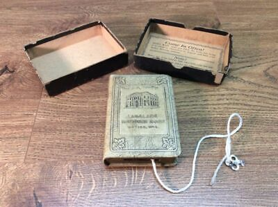 Antique The First Step Coin Bank Automatic Recording Safe Co Box And Key A15