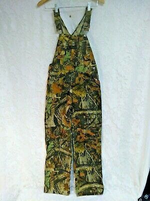 2d067daf44525 Vtg Liberty Advantage Timber Camo Double Front Bib Overalls Cotton Blend  16Y Reg