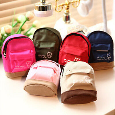 Mini Small Cute Women Lady Girl Pouch Coin Purse Backpack Canvas Bag Wallet LJ
