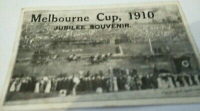 Melbourne Cup 1910 Jubilee Souvenir Postcard  Comedy King beating the field