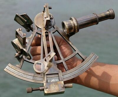 "Nautical Hand Made Heavy 7"" Brass Sextant Astrolabe Sextant"