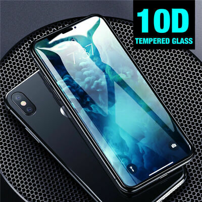 10D Full Cover Real Tempered Glass Curved Screen Protector For iPhone XS Max XR