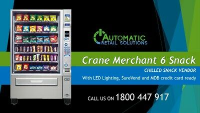 Crane National Merchant 6 Chilled Snack Vending Machine - Excellent Condition!!