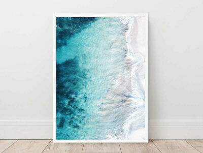 Beach Ocean Abtract Wall Art Poster Print. Perfect For Home/Office Decor