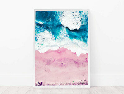 Pink Ocean Abtract Wall Art Poster Print. Perfect For Home/Office Decor