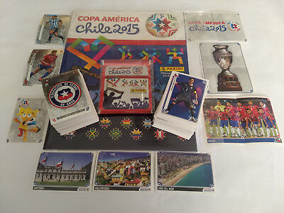 Panini Copa America 2015 Chile Complete Loose Sticker Set + Empty Album