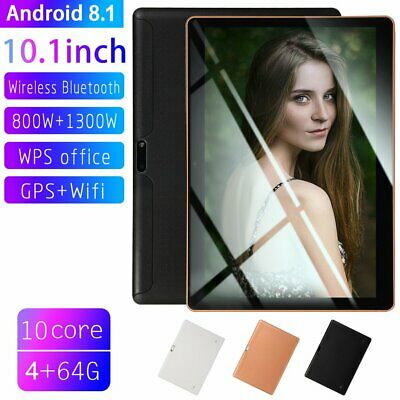 "10.1"" Tablet PC 4G+64G Android 8.1 Ten-Core Camera Wifi Phone plastic Phablet JT"