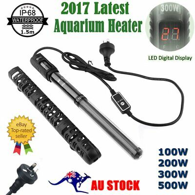 Aquarium Submersible Fish Tank LED Digital Adjustable Water Heater Rod 100-500W