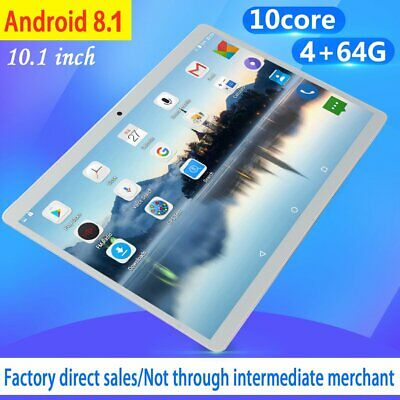 10.1 Inch 4GB+64GB Unlocked Ten-Core  Tablet PC 2GHz Android 8.1 13.0MP Camera J
