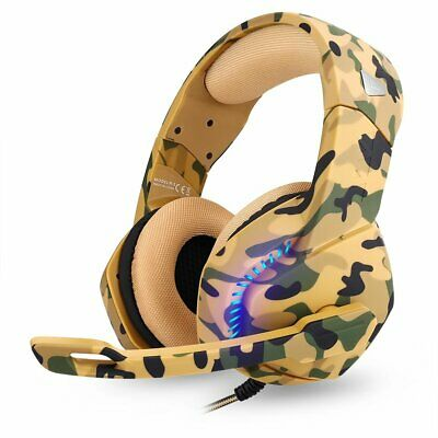 3.5mm Gaming Headset Mic LED Stereo Surround Bass for PC Laptop PS4 Xbox One