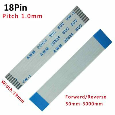 Pitch 1.0mm 18P FFC FPC Flexible Flat Cable 50mm-3000mm Forward/Reverse W:19mm
