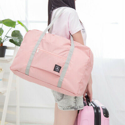 Travel Storage Handbag Reusable Shopping Pouch Tote Folding Luggage Shoulder Bag