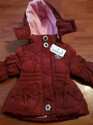 baby moncler coat 12/18 months new